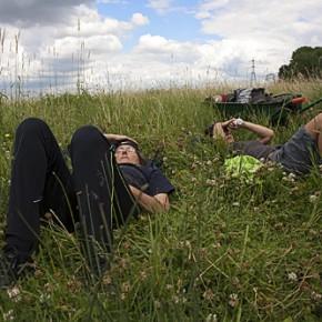 Volunteers Enjoying a Break - Walthamstow Marshes